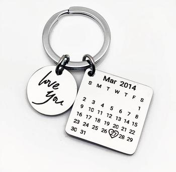 Brass Logo Engraving Inked Wedding Gifts Home Decor Calender Keychain