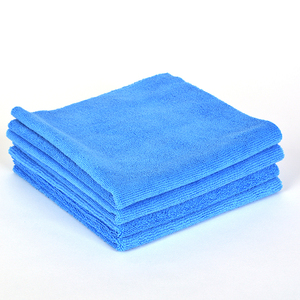 30x30 blue cleaning cloth cheap microfiber cleaning cloth for car cleaning