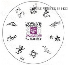 2015 S Series S3 Nail Polish DIY Stamping Plates Stainless Steel plate Nail Art Image Stamp