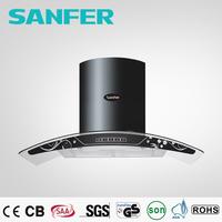 Remote control and sensor hammered copper range hood LED light
