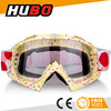factory hot sale custom frame elastic strap moto goggles CE motor googles