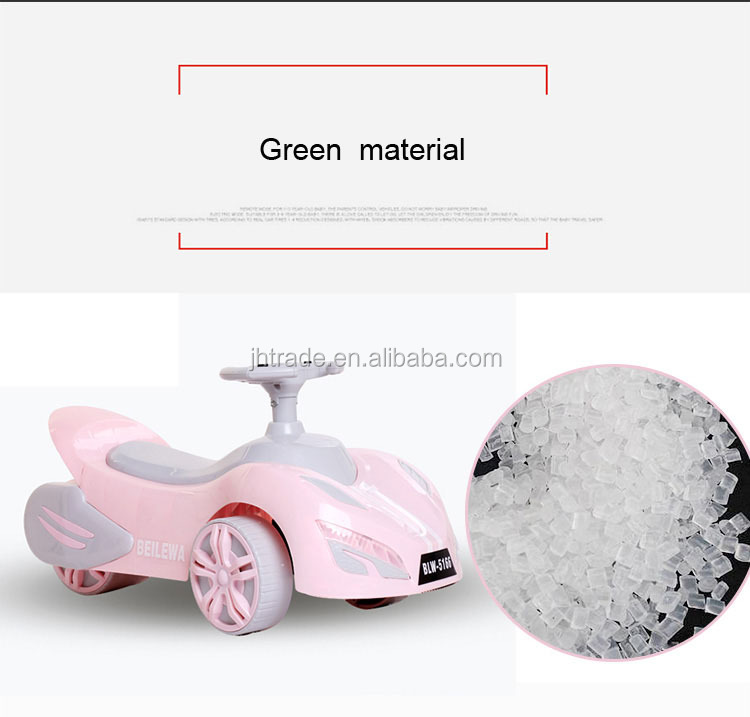 New PP plastic baby push car with music baby riding cars for kids for sale