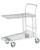 General purpose stores trolley KM  stackable galvanised 2 mesh shelves 300 Kg 860x530 mm brake
