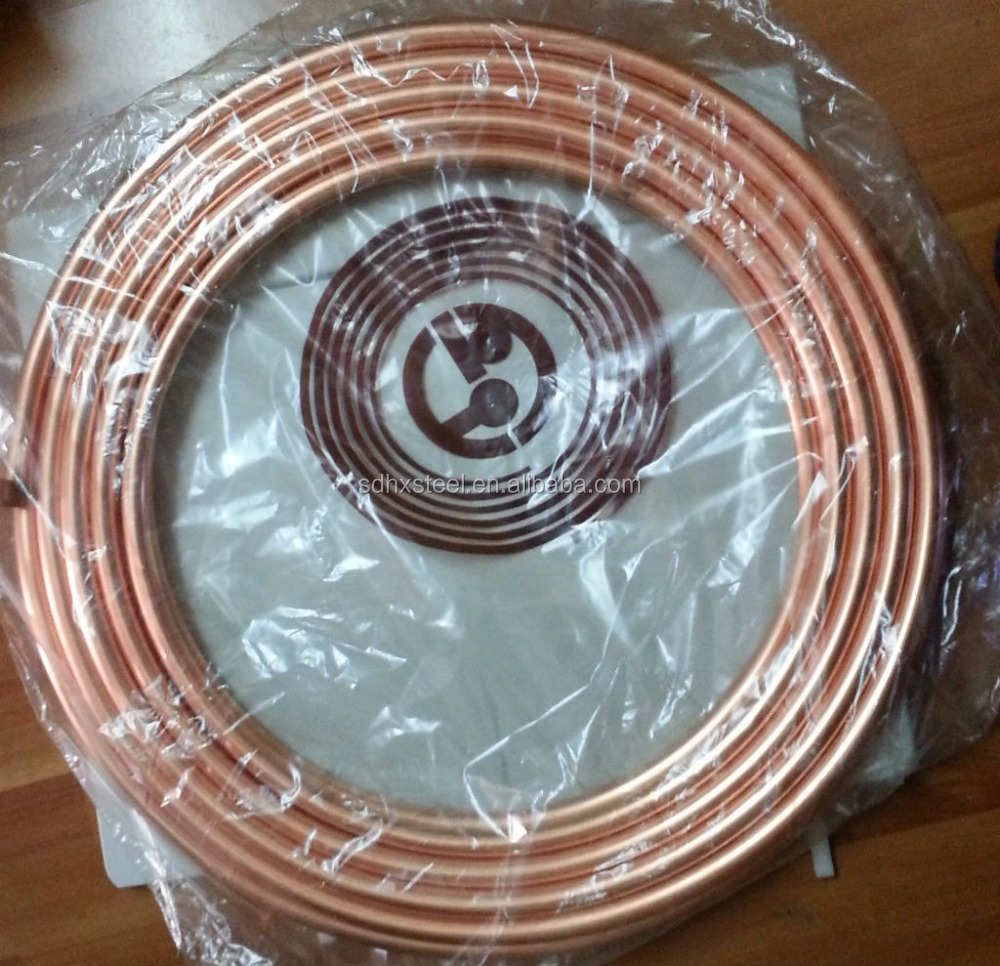 all sizes medical gas copper pipeline oxygen coil tube for hospital