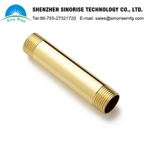 Alibaba China Supplier Customized Precision Threaded Brass Tube OEM CNC Turning parts