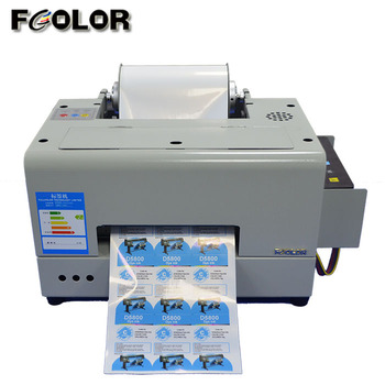 Color Adhesive Sticker Label Printer Used In Wine Drink Bottle Label