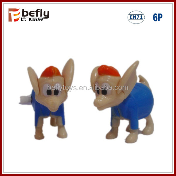 ECO plastic shantou toys wind up dog