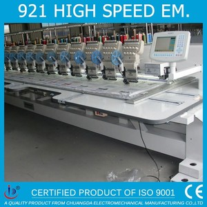 921 HIGH SPEED 9 NEEDLES 21 HEAD COMPUTERIZED BROTHER PR 650 EMBROIDERY MACHINE FOR SALE