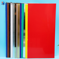 Laser Engravable Advertising Material ABS Double Color Plastic Sheet Price