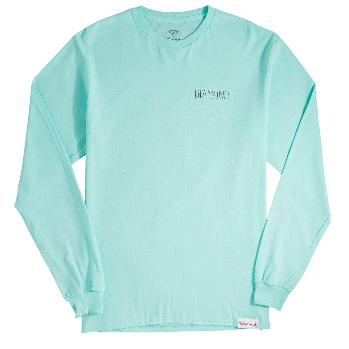 d71bdc5dac1c Get Quotations · Diamond Supply Co. Split Long Sleeve T-Shirt - Diamond Blue