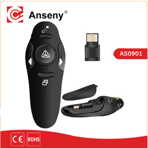 Wireless Presenter 2.4GHz PPT Laser Flip Pen Wireless Laser pointer ,mouse Remote Control, USB Flip Laser