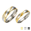 Couple Promise Gold Finger Ring Without Stone Women Wedding Ring Set