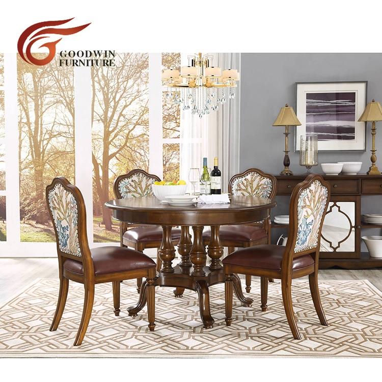 Genişletilebilir ahşap yemek masası tasarımları set WA642