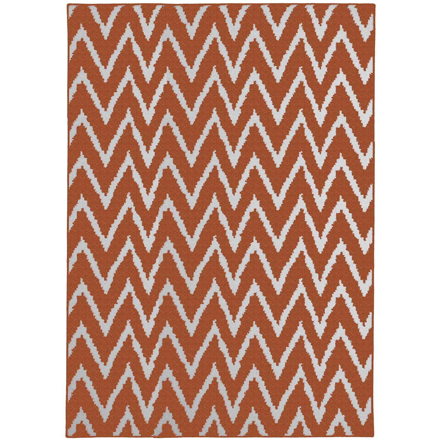 33009c20e6e Get Quotations · Distressed Zig Zag Area Rug