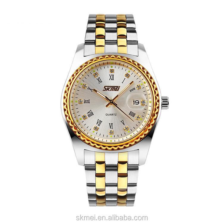 Alibaba express lüks elmas erkekler altın saatler toptan fiyat ile