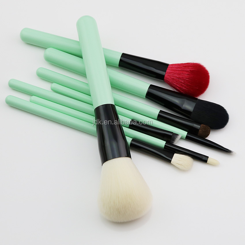 JDK makeup tool kits very soft synthetic hair professional beauty tools 8 pcs light green makeup brush set