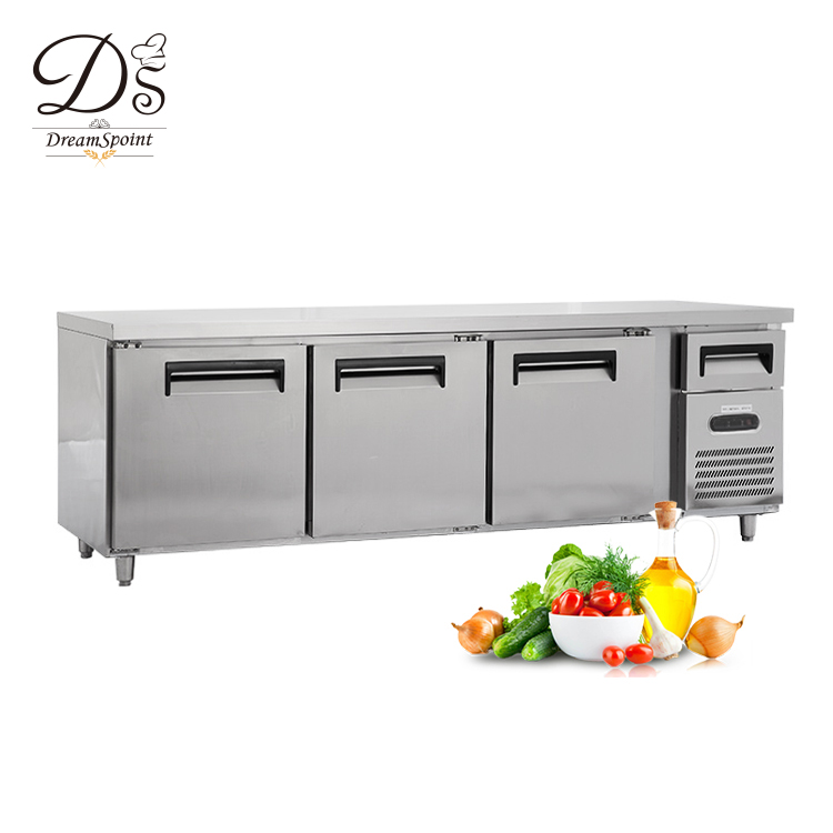 Heavy Duty 3 door work table refrigerator freezer For Kitchen Use
