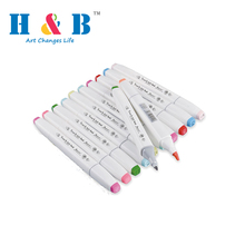 Double soft head color permanent paint marker pen set