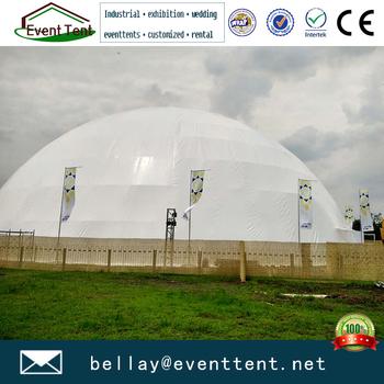 Mega white PVC geodesic dome tent for soccer court from Guangzhou tent factory & Mega White Pvc Geodesic Dome Tent For Soccer Court From Guangzhou ...