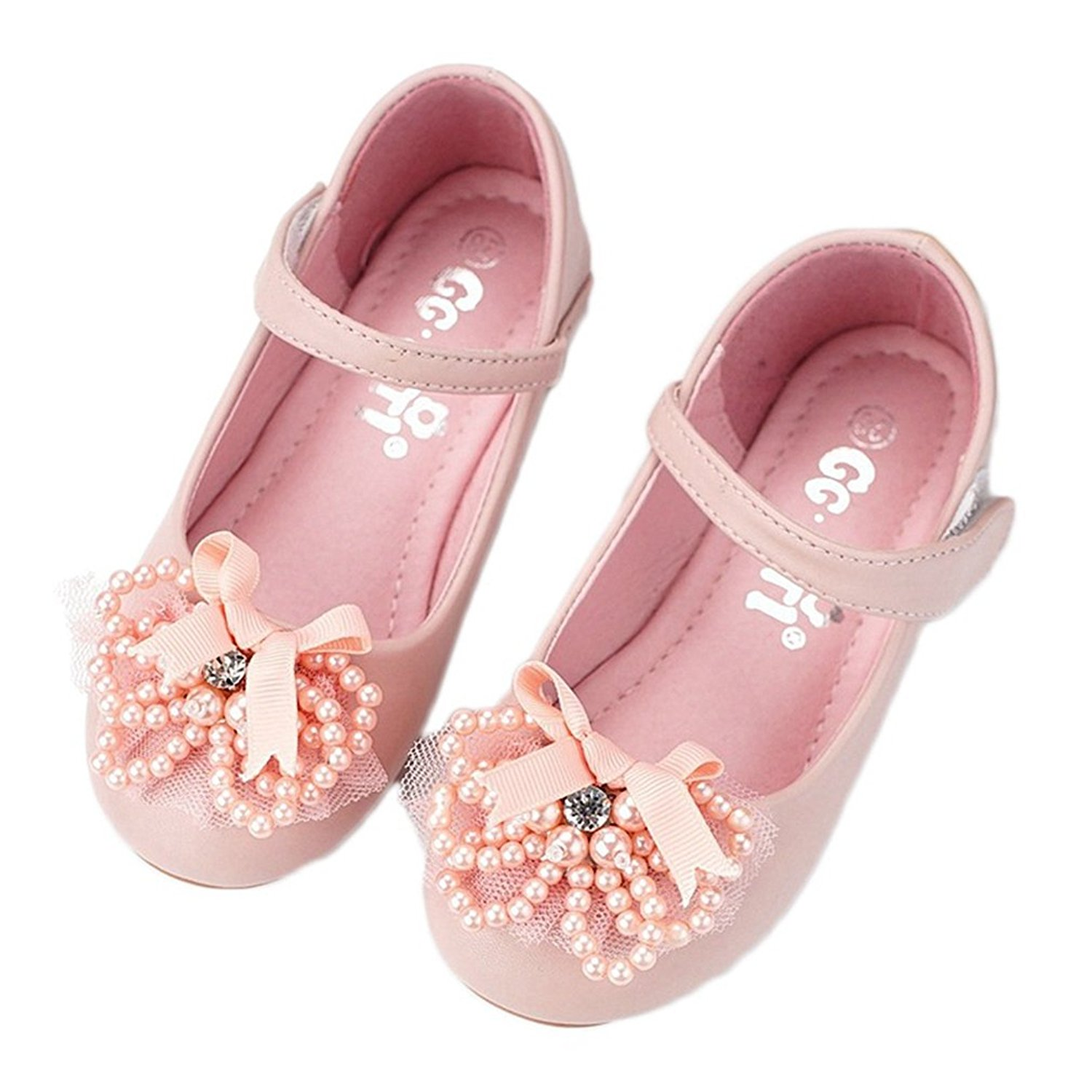 d29a37a70a9e Get Quotations · CYBLING Kids Ballet Flats Girls School Shoes Mary Jane  Wedding Party Princess Dress Shoes (Toddler