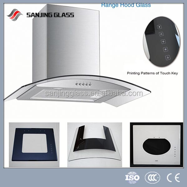 silk screen glass for range hood