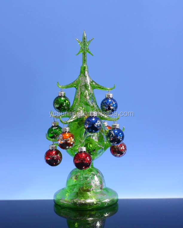 lighted glass christmas tree lighted glass christmas tree suppliers and manufacturers at alibabacom - Glass Christmas Tree
