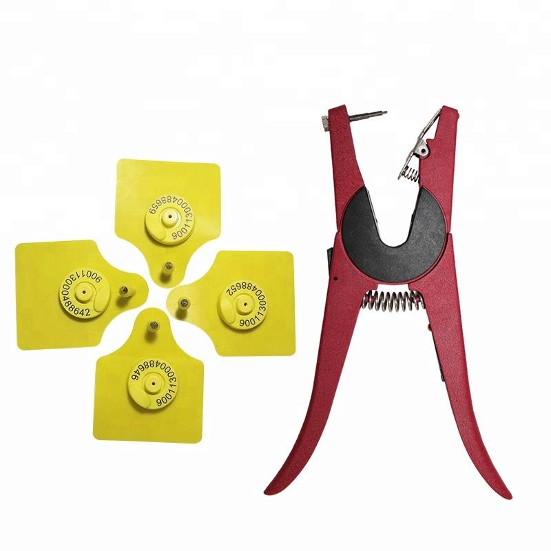 equipment for veterinary animal ear tag pliers applicator for livestock