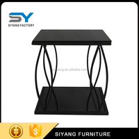 2017 fashion side table end table with tempered glass top JJ044