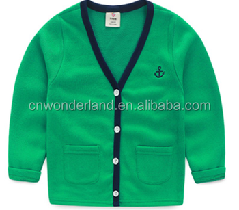 fc82e53384a026 cotton boy long sleeve sweater cardigan children plain knited sweater  school cardigan sweater children sweater cardigan