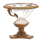 New Design Luxury Classical Ormolu & Crystal Glass Home decoration Fruit Bowl/bowl