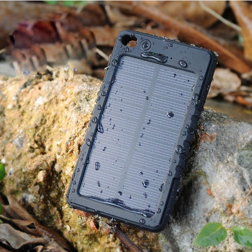 New Waterproof Solar Power Bank 5000mAh Portable Li-Polymer Battery Solar Charger for promotional gift
