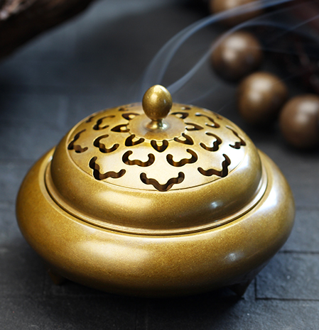 Buddhism Ancient rhyme Shining Clouds bronze incense burner for home incense