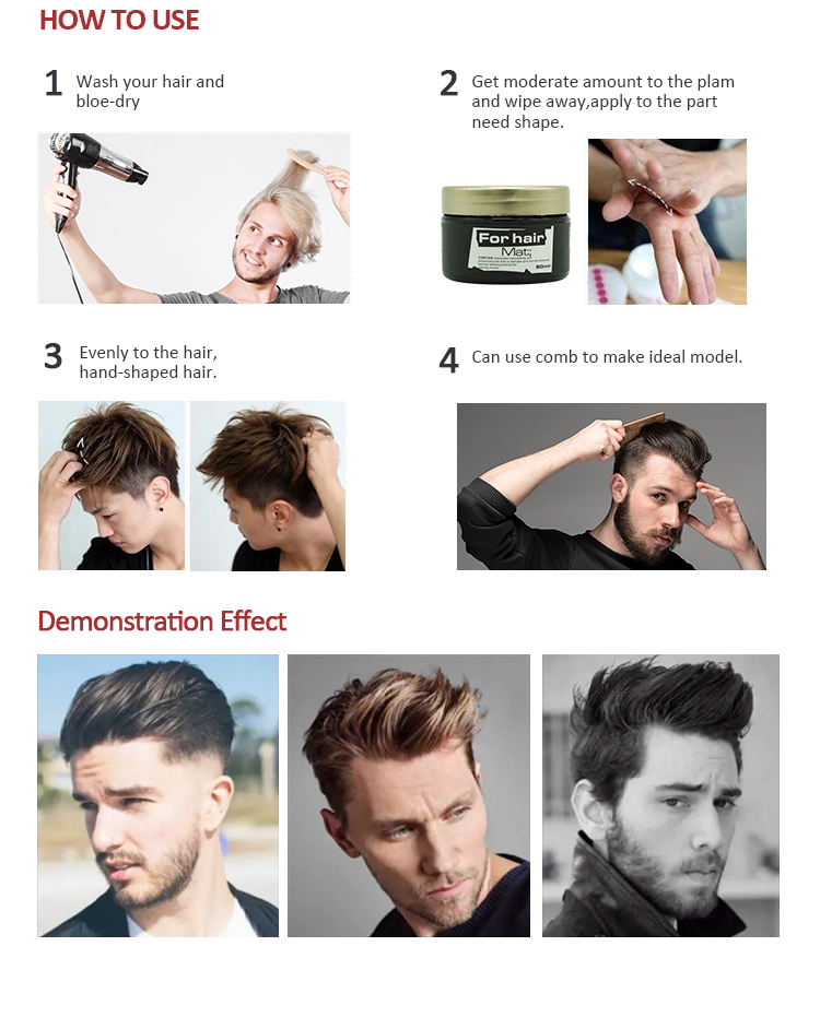 China Products Heat Protect Contains Moisturizing Nourishing Factor Hold Strong Professional Mens Product Hair Styling Gel