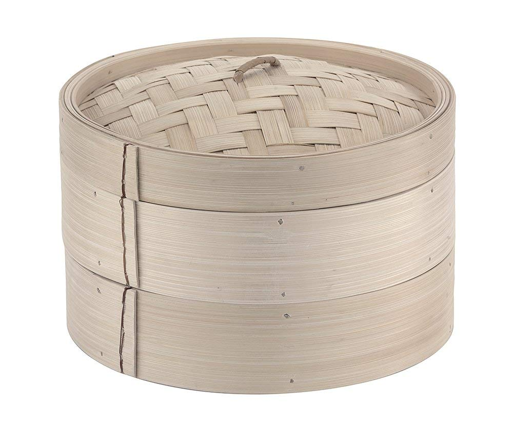 Paderno World Cuisine 11-7/8-Inch Bamboo Steamer Set