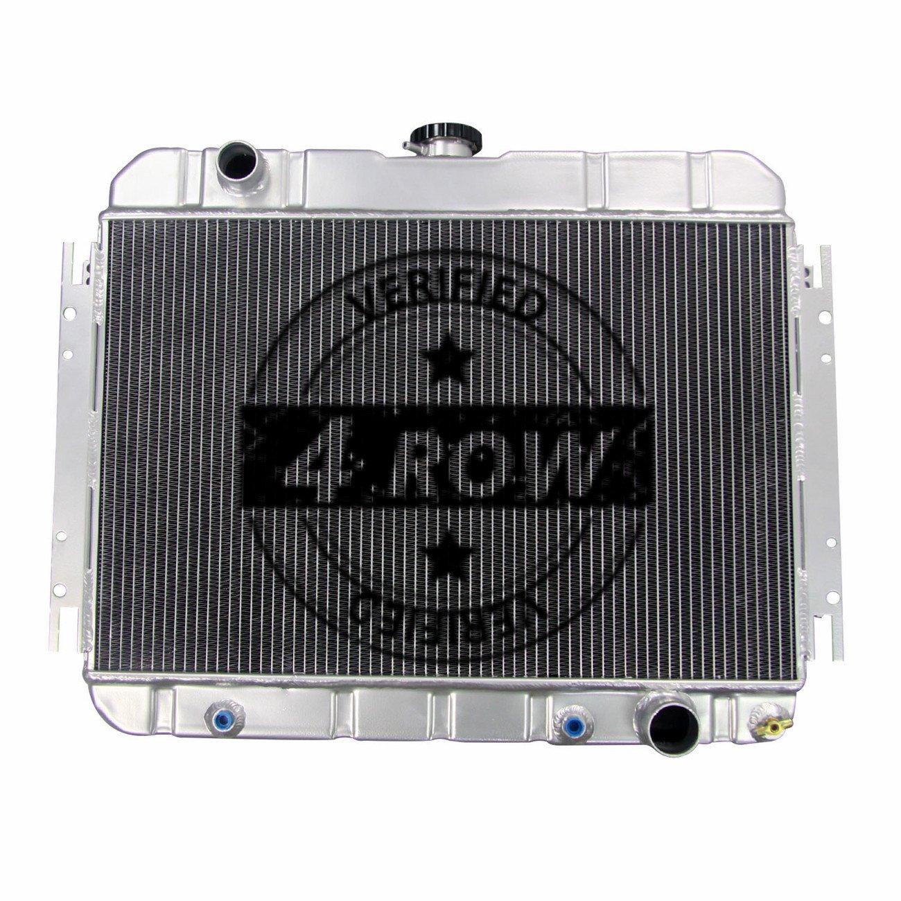 "Pontiac GTO Custom Aluminum Radiator Fan Shroud /& 2-14/"" Fans 17 x 28 1//4 161"