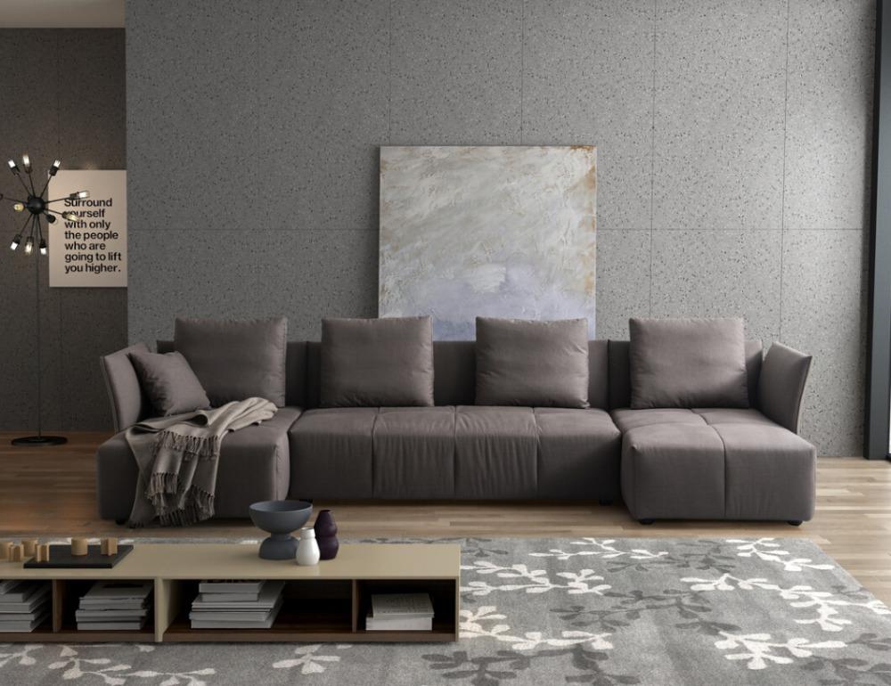 Modern Soft High Grade Fabric Modular Sofa Divan Living Room Furniture Chinese