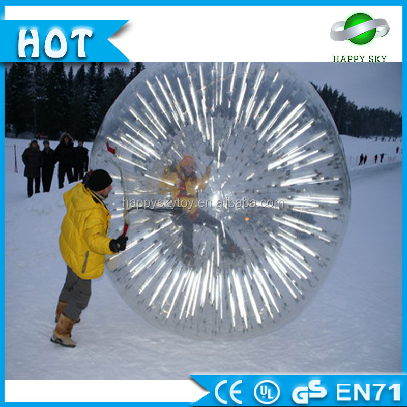 HappySky 100% PTU/ PVC Inflatable LED Human Sized Hamster Ball, cheap tpu zorb ball, human hamster zorb ball for sale