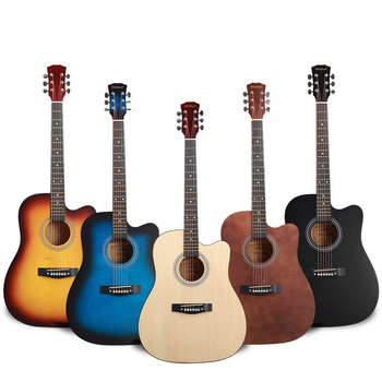 Cheapest practice guitar for beginners 40 41 inch exercise guitar acoustic no logo fast delivery