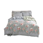 Factory direct price 240x260 twill flower printed cotton bedding set duvet cover