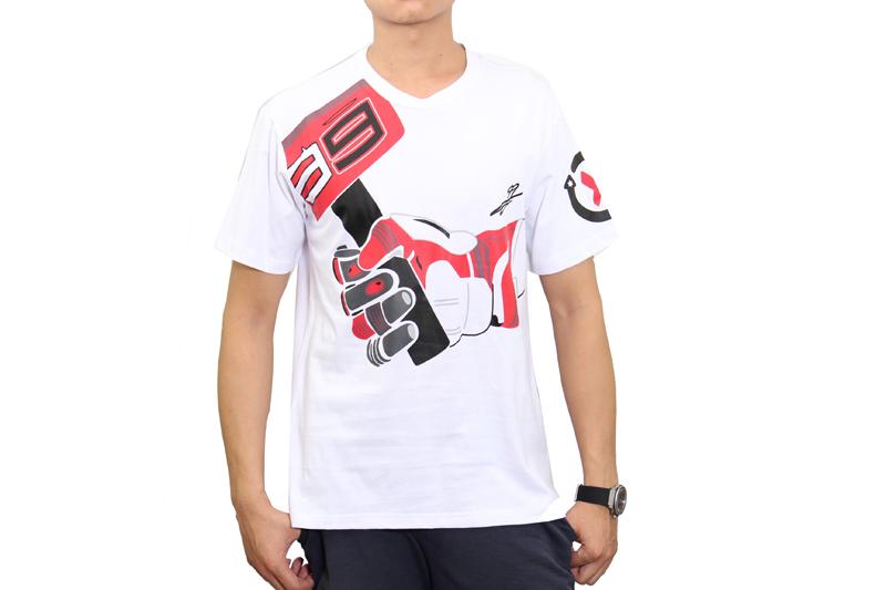 Белый локомотив мотоциклов хорхе лоренсо 99 X - fuera молоток Moto GP футболка новая