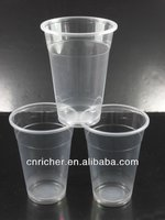 8oz 10oz 12oz 20oz disposable clear plastic drink cup with lid