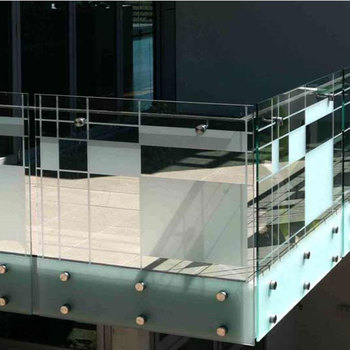 Stainless Steel Standoff Glass Balustrade Accessories For Balcony
