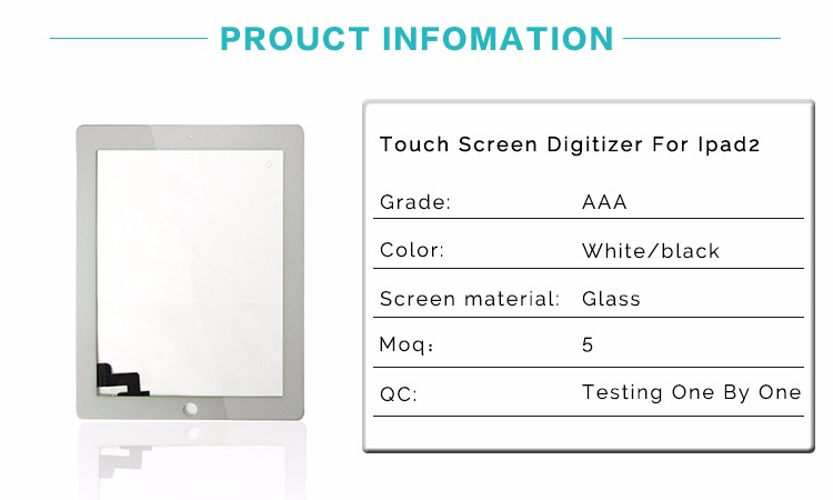 Factory Promotion Price Touch Screen For Ipad 2 For Replacement
