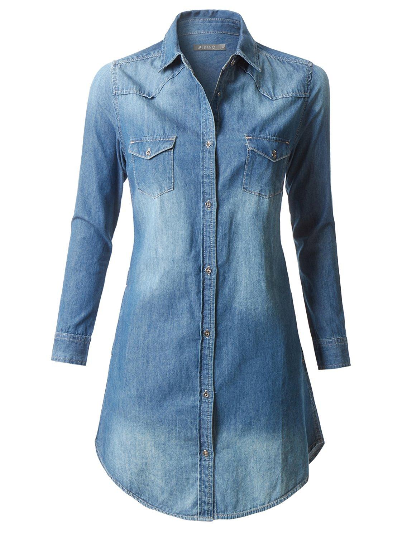 Buy Gap Chambray Denim Jean Shirt Dress Size 1 Below Knee High