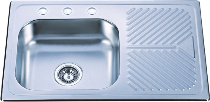 built-in drainboard kitchen sink HQ-9666XT