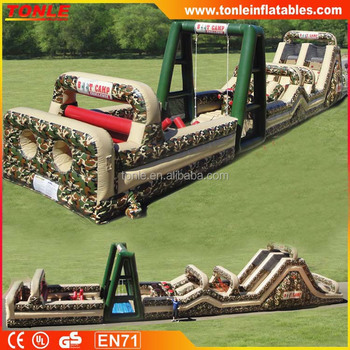Best Sale Kids/adults Boot Camp Inflatable Obstacle Course ...