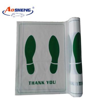 Paper Plastic Disposable Car Foot Floor Mats Buy Disposable Car