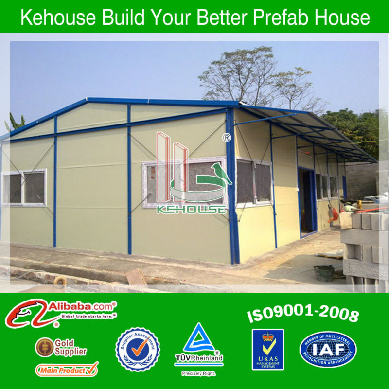 low cost slop top light steel structure buidling prefabricated timber homes