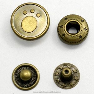 Wholesale Four parts spring snap button metal fastener for jackets