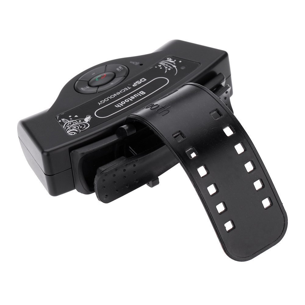 Hands-free Speakerphone - SODIAL(R) New A2DP Steering Wheel Bluetooth Car Kit Hands-free Speakerphone for iPhone Samsung HTC